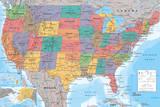 Landkarte der USA Kunstdrucke