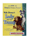 The Lady And the Tramp, 1955, Directed by Clyde Geronimi, Wilfred Jackson, Hamilton Luske Giclée-tryk