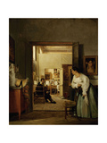 Ingres' Studio In Rome, 1818 Giclee Print by Jean Alaux