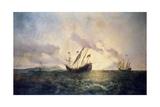 Descubrimiento De America, 19th Century Giclee Print by Antonio Brugada