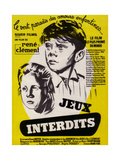 """Forbidden Games, 1952, """"Les Jeux Interdits"""" Directed by Rene Clement Giclee Print"""