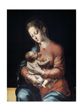 The Virgin And Child, Ca. 1565, Spanish School Giclee Print by Luis De morales