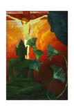 Paul Ranson and 'christ And Buddha', 1880, Oil On Canvas Giclée-Druck von Paul Ranson