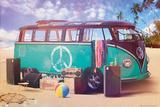 VW Camper Retro Poster Plakát
