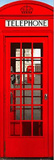 London Telephone Box Travel Poster Plakater