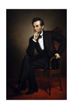 Portrait of Abraham Lincoln, 1887 Reproduction procédé giclée par George Peter Alexander Healy