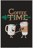 Coffee Time Snorg Tees Poster Posters