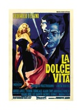 """The Sweet Life, 1960 """"La Dolce Vita"""" Directed by Federico Fellini Giclée-tryk"""