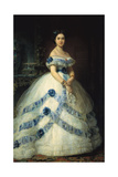 The Duchess of Castro Enríquez, 1868, Spanish School Giclee Print by Federico De madrazo
