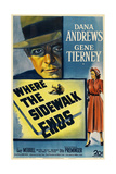 Where the Sidewalk Ends, 1950, Directed by Otto Preminger Giclee Print