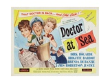 Doctor At Sea, 1955, Directed by Ralph Thomas Giclée-tryk