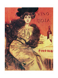 "Advertisement. ""Rioja Wine.modernist Style. Early 20th Century. Spain Giclee Print by Ramon Casas"