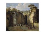 "La Gruta De Posillipo ""Nápoles"" First Quarter 18th Century, Italian School Giclee Print by Gaspar van Wittel"