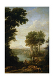 Moses Saved From the Waters of the Nile, 1639-1640 Reproduction procédé giclée par Claude Lorraine