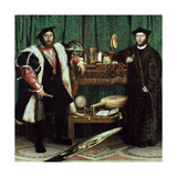 "The Ambassadors ""With Anamorphosis In the Lower Part of the Painting"" 1533, Germany School Giclee Print by Hans Holbein the Younger"