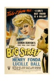 "Lucille Ball. ""The Big Street"" 1942, Directed by Irving Reis Giclee Print"