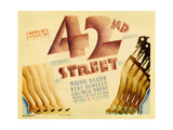 "Forty-second Street, 1933, ""42nd Street"" Directed by Lloyd Bacon Giclee Print"