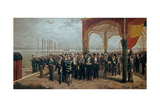 Christmas 1870: Amadeo I Boarding La Spezia, Bound for Spain Giclee Print by Luis Alvarez catala