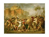 The Intervention of the Sabine Women, 1799 Giclee Print by Jacques-Louis David