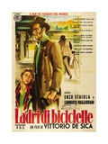 """Bicycle Thieves, 1948, """"Ladri Di Biciclette"""" Directed by Vittorio De Sica Giclée-tryk"""