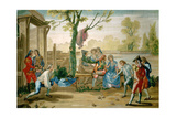 A Game of Petanque, Spanish School Giclee Print by Ramon Bayeu