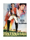 "Fan-fan the Tulip, 1952, ""Fanfan La Tulipe"" Directed by Christian-jaque Giclée-Druck"