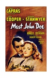 "Frank Capra's 'meet John Doe', 1941, ""Meet John Doe"" Directed by Frank Capra Giclee Print"