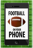 Football On Your Phone Humor Poster Prints