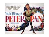 Peter Pan, 1953, Directed by Wilfred Jackson, Hamilton Luke Giclée-tryk