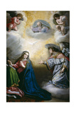 The Annunciation, Late 16th Century - First Quarter 17th Century, Spanish School Giclee Print by Vicente Carducho