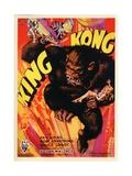 """Kong, 1933, """"King Kong"""" Directed by Merian C. Cooper, Ernest B. Schoedsack Giclée-trykk"""