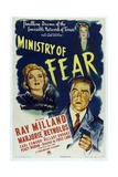 Ministry of Fear, 1944, Directed by Fritz Lang Giclee Print