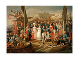 The Boarding of Ferdinand Vii In Puerto Santa Maria In October 1st, 1823, 1838 Giclee Print by Jose Aparicio