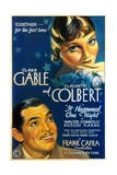 """Night Bus, 1934, """"It Happened One Night"""" Directed by Frank Capra Giclée-tryk"""