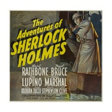 "Sherlock Holmes, 1939, ""The Adventures of Sherlock Holmes"" Directed by Alfred L. Werker Giclée-tryk"