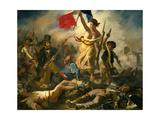 La liberté menant le peuple Reproduction procédé giclée par Eugene Delacroix