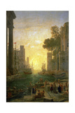 Landscape With the Embarkment of Saint Paula Romana In Ostia, 1639-1640 Giclee Print by Claude Lorrain