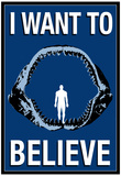 Megalodon Jaws I Want To Believe Humor Poster Poster