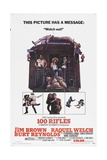100 Rifles, 1969, Directed by Tom Gries Giclee Print