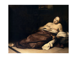 Saint Agatha In Prison, 17th Century, Italian School Giclee Print by Andrea Vaccaro