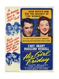 "Howard Hawks' His Girl Friday, 1940 ""His Girl Friday"" Directed by Howard Hawks Giclee Print"