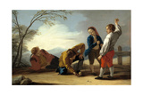 Boys Playing With Tops, 1780, Spanish School Giclee Print by Jose Del castillo