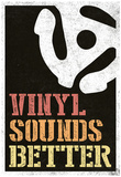 Vinyl Sounds Better Music Poster Photo