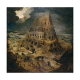 Construction of the Tower of Babel, Ca. 1595, Flemish School Giclee Print by Pieter Brueghel the Younger