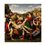 "Raphael and 'the Deposition ""Pala Baglione""', 1507, Oil On Wood, 184 X 176 Cm Giclee Print"