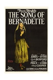 "Franz Werfel's the Song of Bernadette, 1943, ""The Song of Bernadette"" Directed by Henry King Gicléetryck"