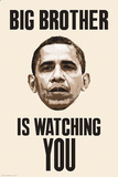 Big Brother is Watching You Obama Poster Print