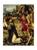 """The Martyrdom of Saint Stephen"" 1562 Giclee Print by Juan De juanes"