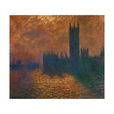 The Parliament In London, Stormy Sky, 1904 Giclee Print by Claude Monet