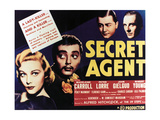 "Laugh Track: Secret Agent, 1936, ""Secret Agent"" Directed by Alfred Hitchcock Giclee Print"